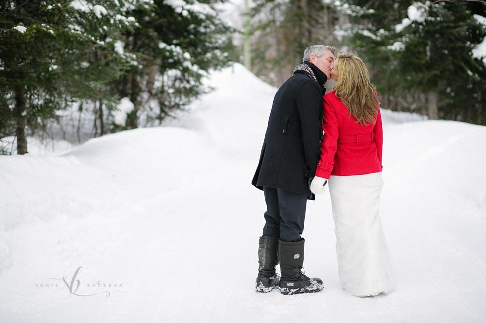 Winter wedding Fiddler Lake | Photographies par Sonia Bourdon photographe