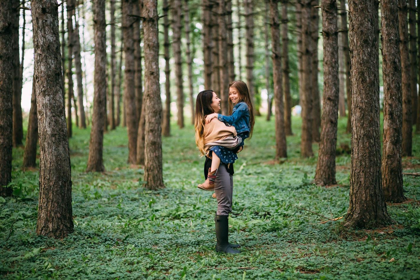 moment tendre entre une mere et sa fille