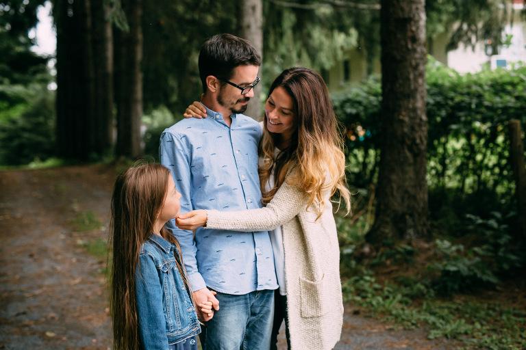 moment tendre en famille